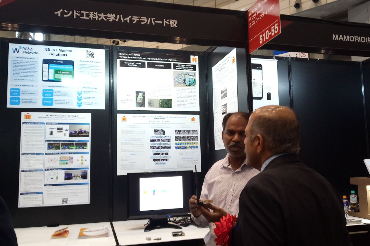 H.E. Sujan Chinoy, Ambassador of India to Japan, visited IIT Hyderabad's booth at CEATEC​ 2017